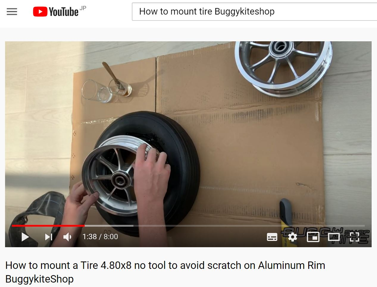 How to mount a tire, No tool